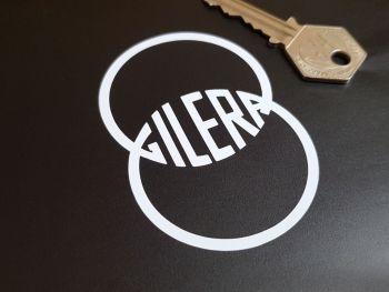 "Gilera Cut Vinyl Logo Sticker 3"" Pair"