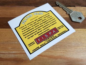 "FISPA Oil Filter Sticker 3"""