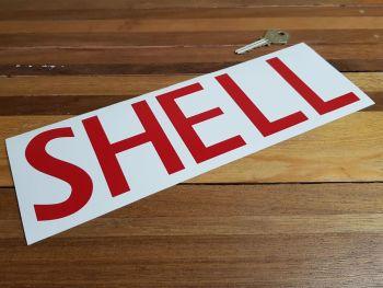 """Shell Capital Text Cut Vinyl Sticker - Style B - 10.75"""""""