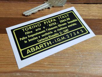 """Abarth Air Fliter FISPA IGM 2734S Sticker 3"""""""