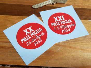 """Mille Miglia 1953 or 1954 Sticker 1.5"""""""