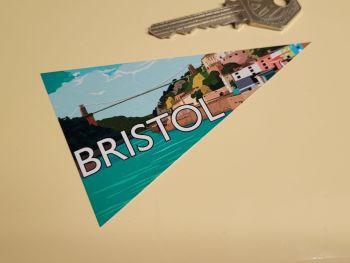 """Bristol Travel Pennant Sticker 4"""""""