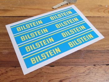 Bilstein Shock Absorbers Blue & Yellow Oblong Stickers - Set of 4 - 125 x 20mm
