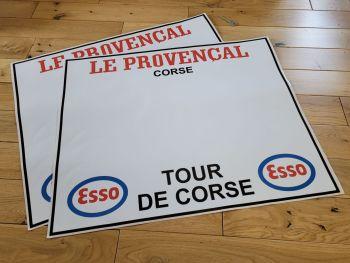 """La Provençal Tour De Corse Door Panel Style Stickers 23"""" Pair"""