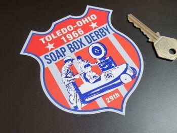 """Toledo-Ohio 1966 Soap Box Derby Sticker 4.5"""""""