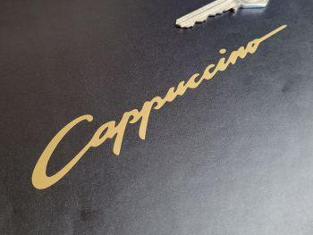 "Suzuki Cappuccino Gold Cut Vinyl Stickers - 6"" Pair"
