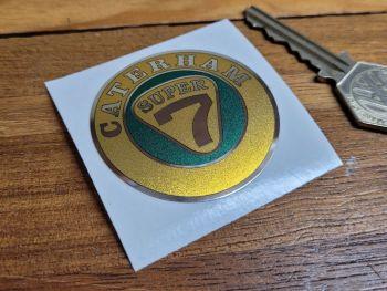 Caterham Super 7 Logo Foil Sticker 50mm