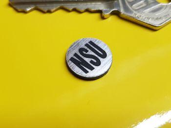 NSU Circular Self Adhesive Bike Badge 14mm