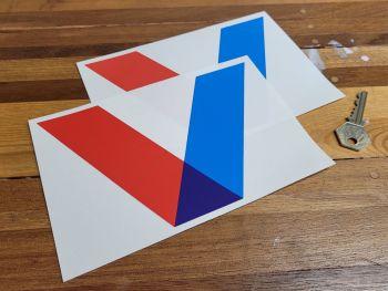 "Valvoline V Shaped Logo Style Stickers 7"" Pair"