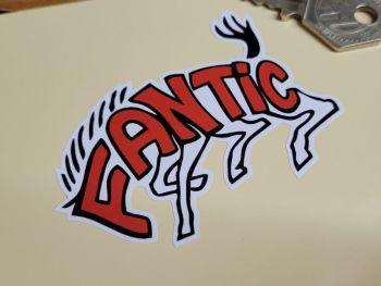 """Fantic Motor Caballero Horse Logo Stickers 3"""" Pair"""
