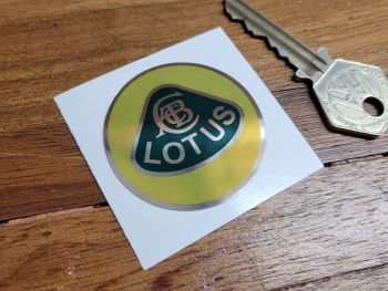 Lotus Old Style Circular Logo - Colour on Mirrored Foil - 44mm
