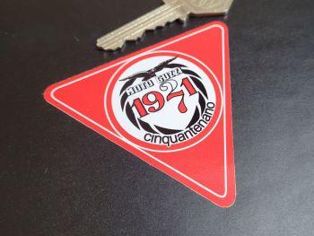 """Moto Guzzi 1921 - 1971 50 Years Celebration Sticker - 3"""""""