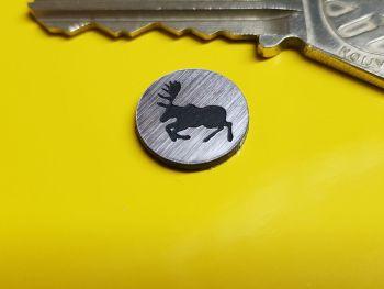 Prancing Moose Saab or Volvo Circular Self Adhesive Car Badge 14mm