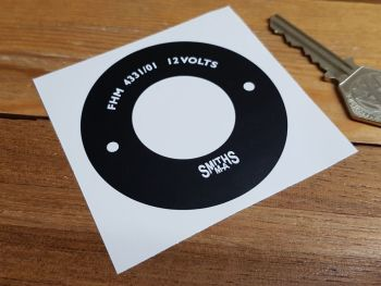 Smiths Classic Style Heater Motor Endplate Sticker - FHM 4331/01 - 70mm