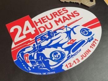 """24 Heures Du Mans LeMans Le Mans 1971 Oval Sticker 5.5"""""""