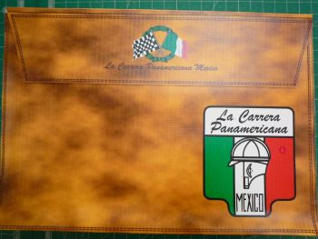 "LA CARRERA PANAMERICANA Document Holder Folder Bag - 10X7"" - Slight Second"