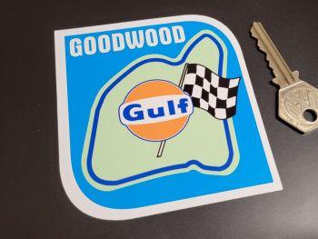 "Goodwood Circuit Gulf Sticker 3.5"""