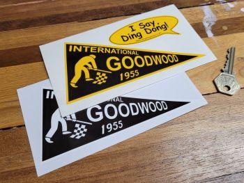 """Goodwood International 1955 Pennant Sticker 6"""""""