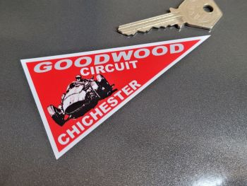 "Goodwood Circuit Chichester Pennant Sticker 4"""