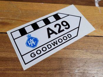 """Goodwood RAC A29 Sticker - 6"""" or 12"""""""