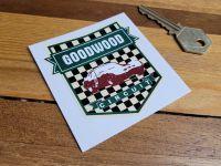 Goodwood Circuit  Green Shield Sticker 2.5