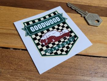 """Goodwood Circuit  Green Shield Sticker 2.5"""""""