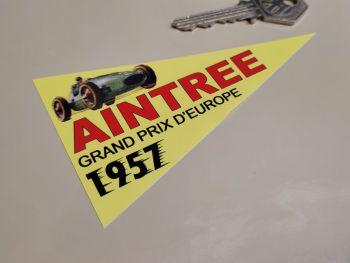 "Aintree Grand Prix D'Europe 1957 Pennant Sticker 4"""