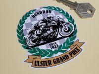 Ulster Grand Prix Dundrod Bike Garland & Scroll Sticker 3
