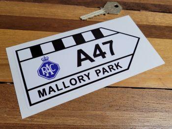 "Mallory Park RAC A47 Sticker - 6"" or 12"""