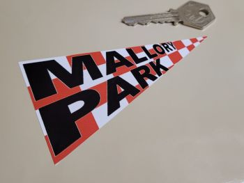 """Mallory Park Pennant Style Sticker 4"""""""