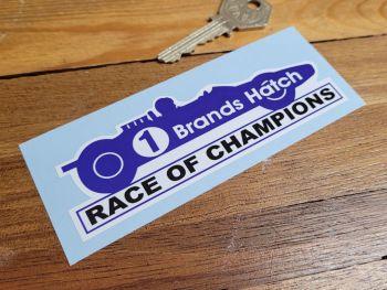 "Brands Hatch '1' Race of Champions Sticker 4.75"""
