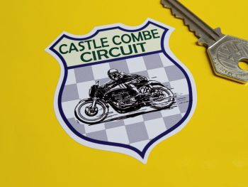 "Castle Combe Circuit Bike Racing Shield Sticker 2.5"""