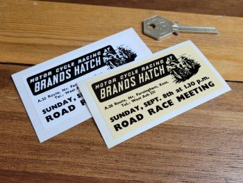 """Brands Hatch 'Motor Cycle Racing At' Sticker 3.5"""""""