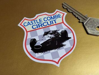 "Castle Combe Circuit Car Racing Shield Sticker 2.5"""
