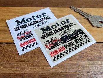 "Brands Hatch 'The Motor' Saloon Car Race Sticker 2.5"""
