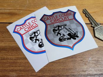 """Castle Combe Circuit Scooter Racing Shield Sticker 2.5"""""""