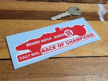 """Brands Hatch Daly Mail Race of Champions March 13 Sticker 4.75"""""""