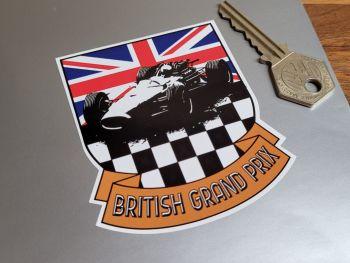 "British Grand Prix Shield & Scroll Sticker 3"""