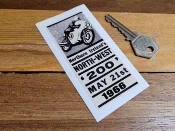 """Northern Ireland's North-West 200 1966 Sticker 3.5"""""""