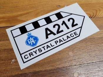 """Crystal Palace Circuit & RAC A212 Sticker - 6"""" or 12"""""""