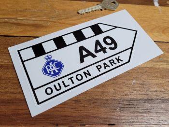 "Oulton Park RAC A49 Sticker - 6"" or 12"""