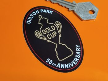 """Oulton Park Gold Cup 50th Anniversary Sticker 2"""""""