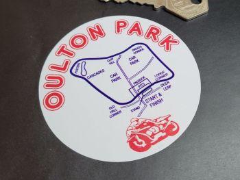 """Oulton Park Circuit 70's Suzuki RG50 Motorbike Sticker 3"""""""