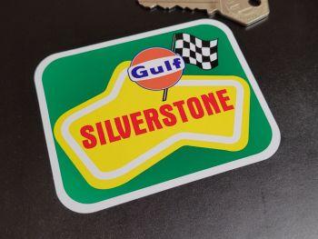 "Silverstone Circuit Gulf Sticker 3.5"""
