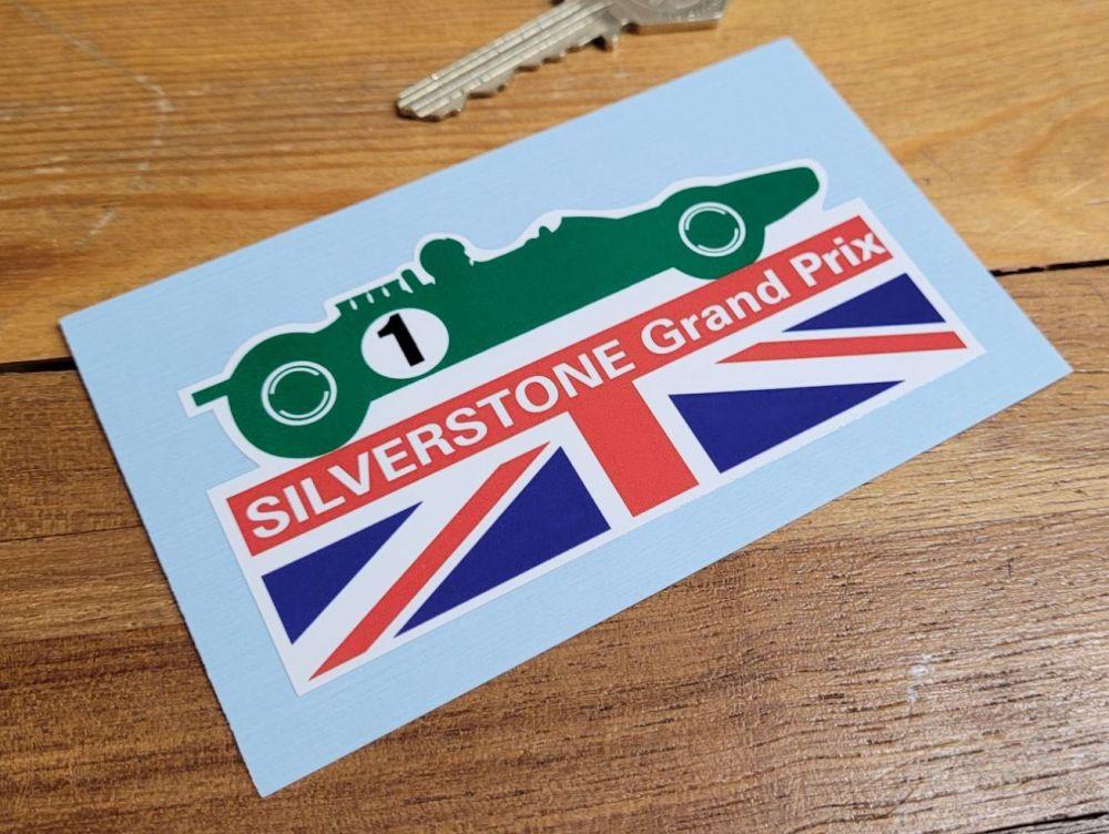 Silverstone Grand Prix Shaped Union Jack Sticker 4