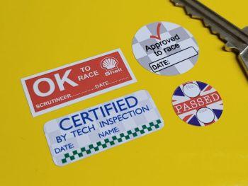 Miscellaneous Small Helmet Race Scrutineers Stickers - Set of 4