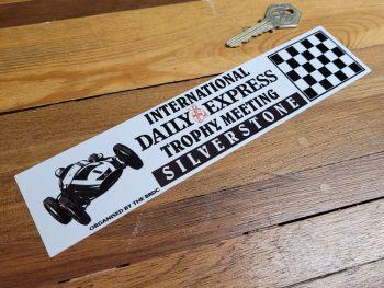 "Silverstone International Daily Express Trophy Meeting Sticker 8.5"""