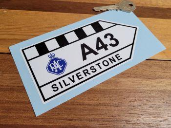 "Silverstone RAC A43 Sticker - 6"" or 12"""