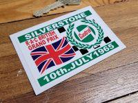 Silverstone RAC British Grand Prix 1965 Sticker 3.25