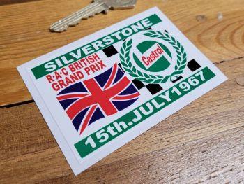 "Silverstone RAC British Grand Prix 1967 Sticker 3.25"""